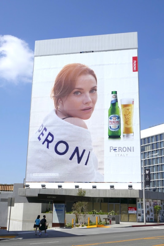 Peroni Beer billboard Sunset Strip