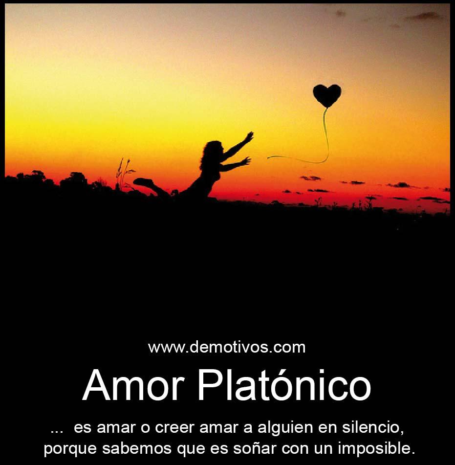 """Frases De Amor Cortas Para Amor PLAT""""NICO Es amar en silencio porque sabemos que"""