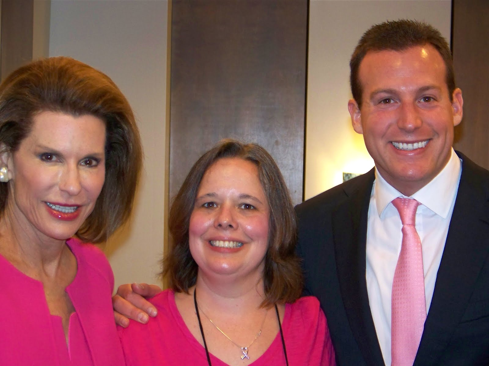 Nancy Brinker, Founder of Susan G. Komen, me and her son Eric Brinker