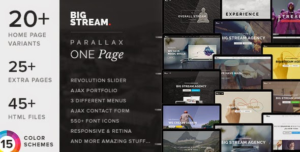 best responsive onepage template