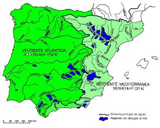 Vertiente Atlantica y Mediterranea