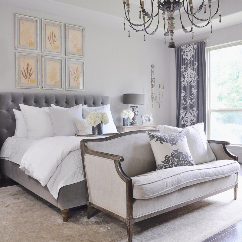 Meet the sullivans bed buying decisions decisisons - Grey and gold bedroom ...