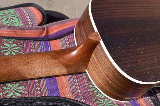 Ohana BK-70 Baritone ukulele neck heel