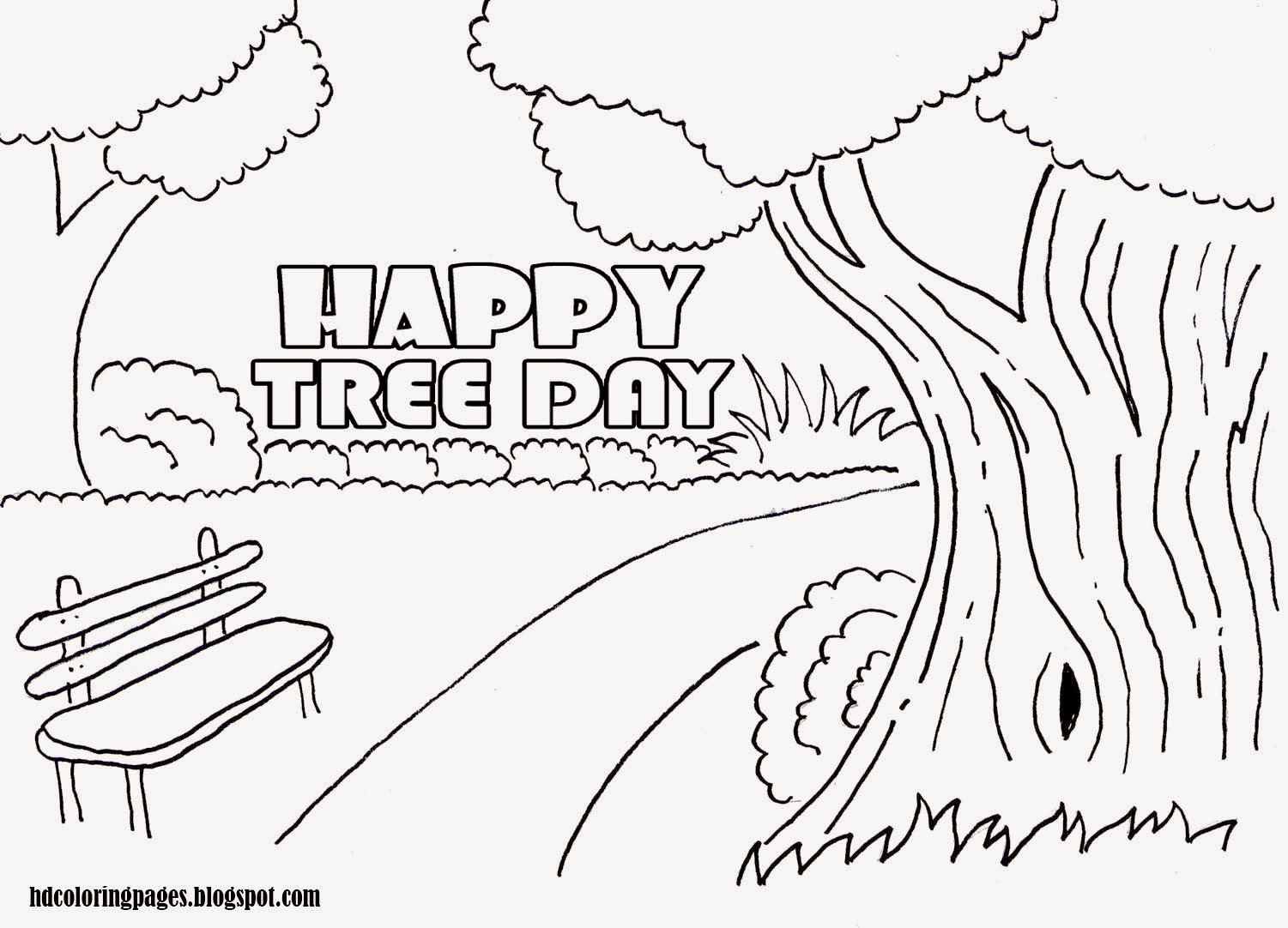 National Tree Day Activities Coloring Pages