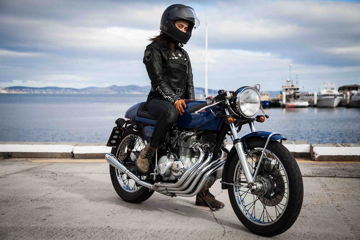 Katie Abdilla Honda CB400F Cafe Cacer