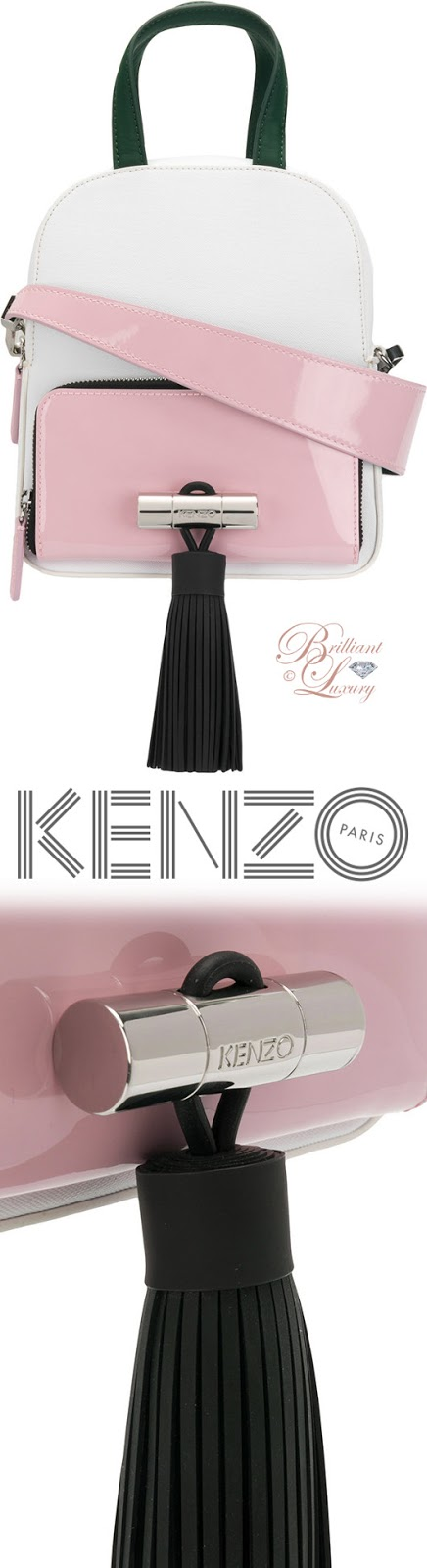 Brilliant Luxury ♦ Kenzo pink tassel shoulder bag