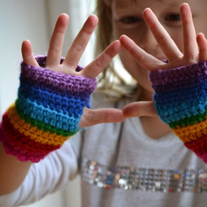 Rainbow mitts