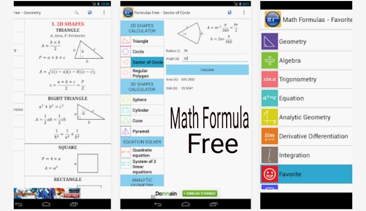 Math Formulas, Shortcut Tricks Ke Sabse Best Free Android Apps