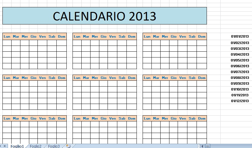 Fare Un Calendario Con Foto.Excel Easy Excel Facile Come Fare Un Calendario Con Excel