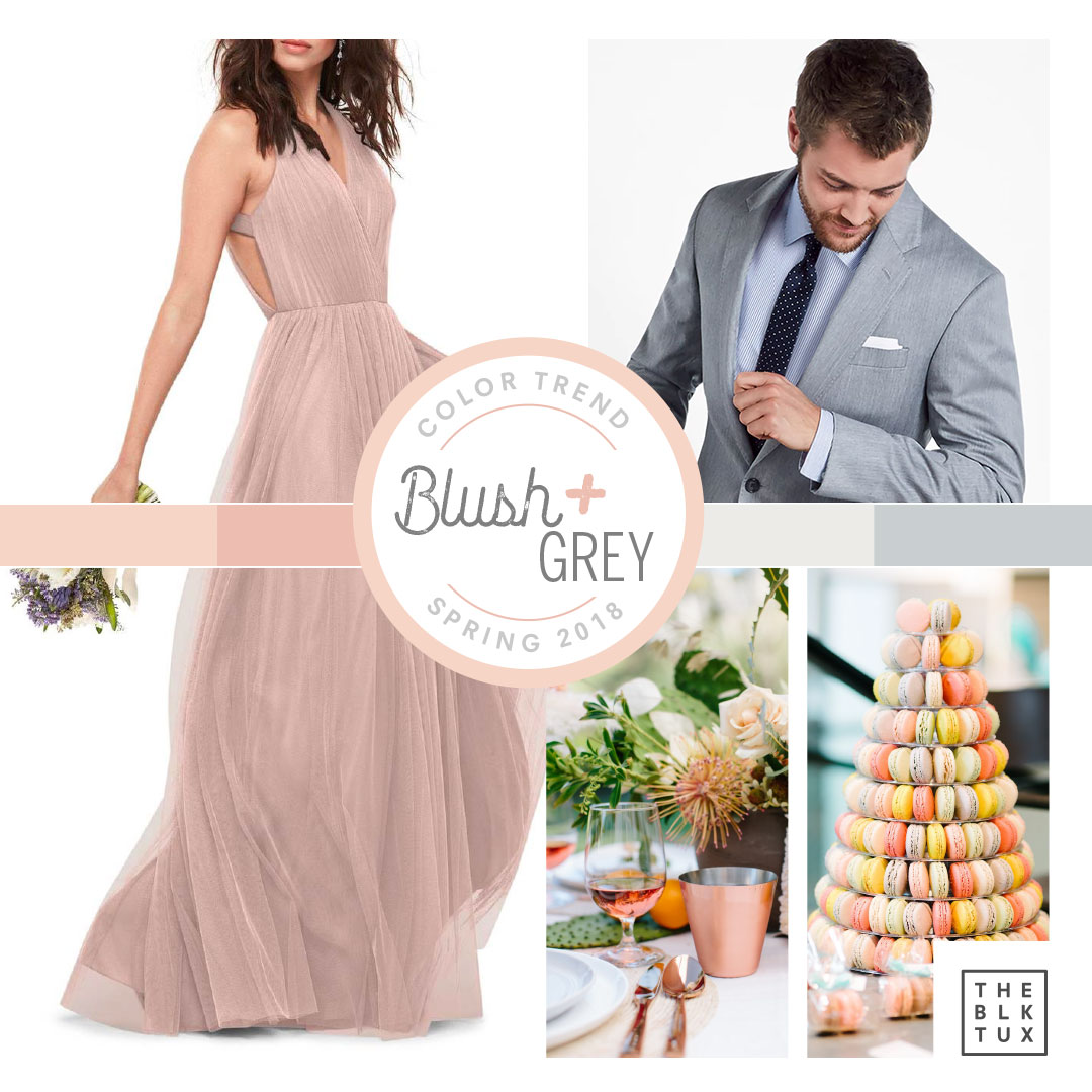 Black and Grey Spring Wedding Colour Combination