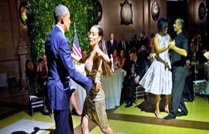 شاهد فيديو : باراك أوباما وزوجته يرقصون التانجو فى الارجنتين