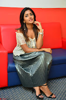 Eesha in a cute deep neck top and Skirt at at Big FM 045.JPG