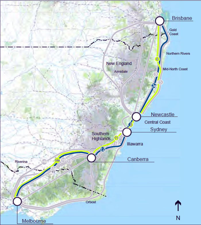 Brisbane And Melbourne: Transpress Nz: Eastern Seaboard High Speed Rail Line From