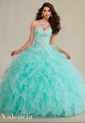 opciones de Vestidos de 15 Años Azul Turquesa
