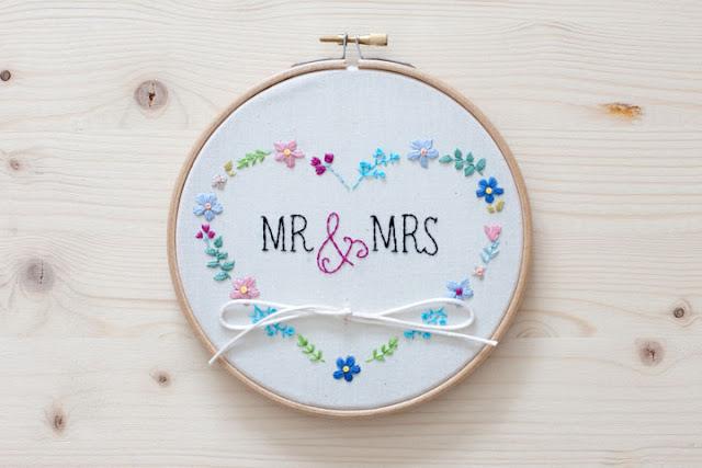 bastidor porta alianzas boda mr and mrs