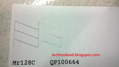 Hasil Print EPSON bergaris ( C90, T11, T13, L100, 1390, L110, L210, L300, dll )