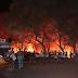 """Incêndio próximo ao """"Posto Imperial das Palmeiras"""""""
