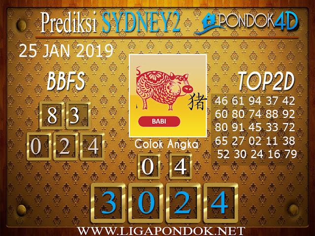 Prediksi Togel SYDNEY2 PONDOK4D 25 JANUARI 2019