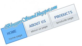 Add Stylish CSS Light Blue Navigation Menu Bar for blogger