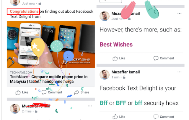 Komentar BBF tidak berwarna Hijau, Akun Facebook Anda  Dalam Bahaya- Tidak Benar / HOAX