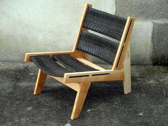 gambar kursi dari ban bekas