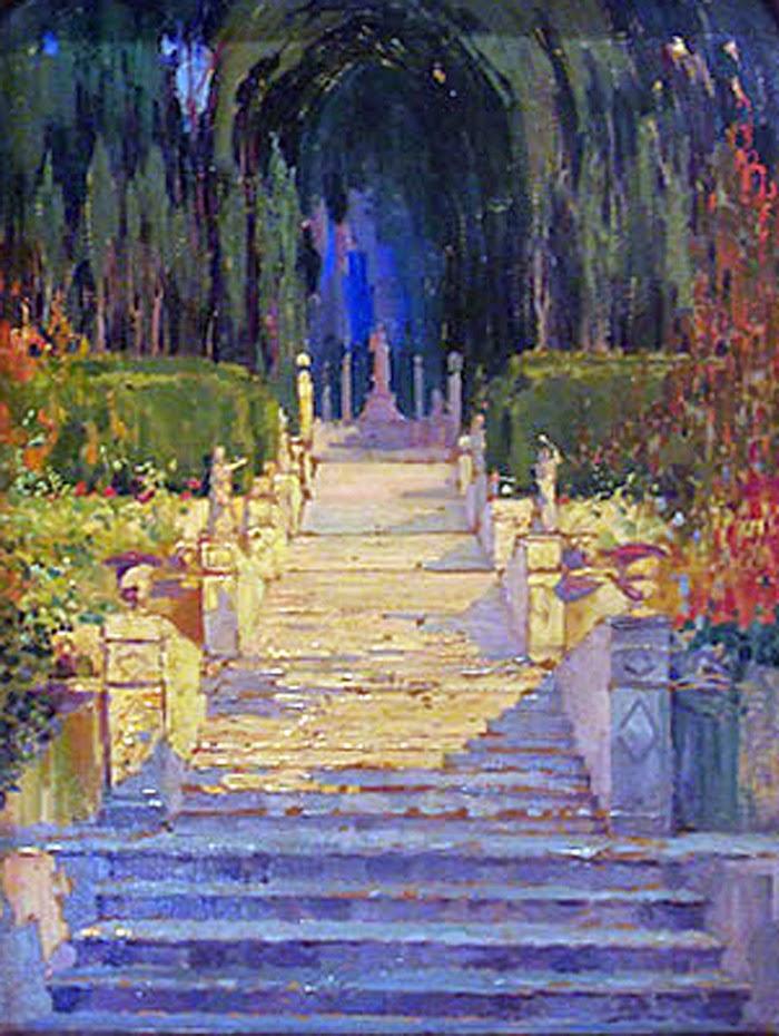Atilio Boveri, Jardines de la Raixa, Mallorca en Pintura, Mallorca pintada, Paisajes de Mallorca
