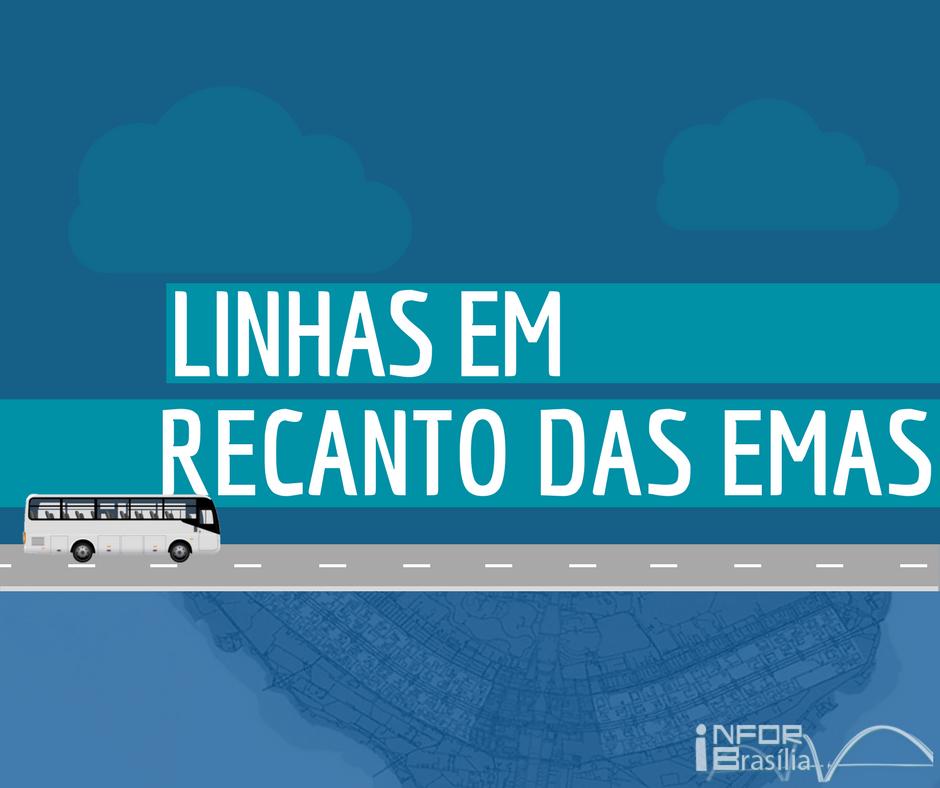 Horário de ônibus das linhas do Recanto das Emas
