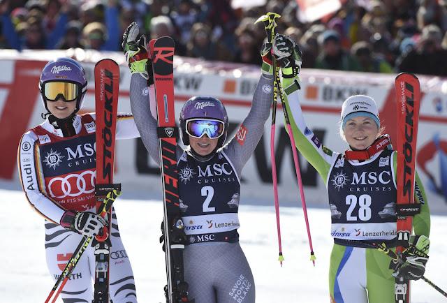 Tessa Worley Wins Lenzerheide Giant Slalom