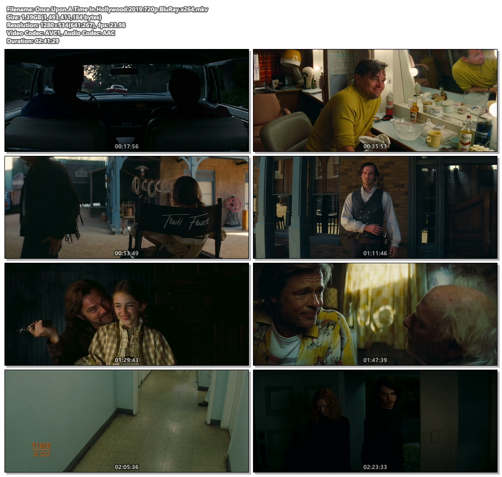 Once Upon A Time In Hollywood 2019 720p BluRay x264 | 480p 300MB | 100MB HEVC Screenshot