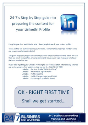 Get this Mick's 20 page Step by Step guide to getting your LinkedIn Profile 'Right First Time' work book FREE