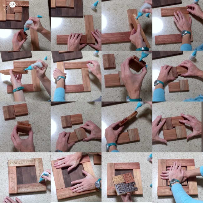 Make a beautiful Scrap Wood Trivet with a picture tutorial at MyLove2Create.