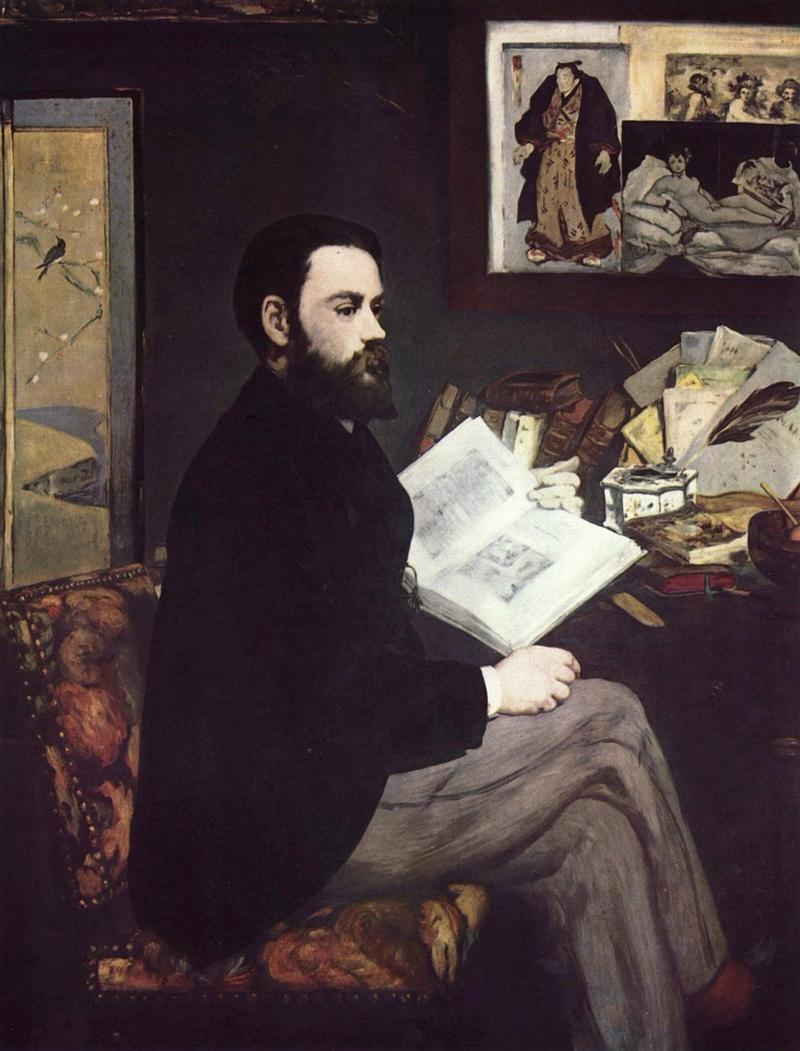 Édouard Manet - Portrait of Émile Zola