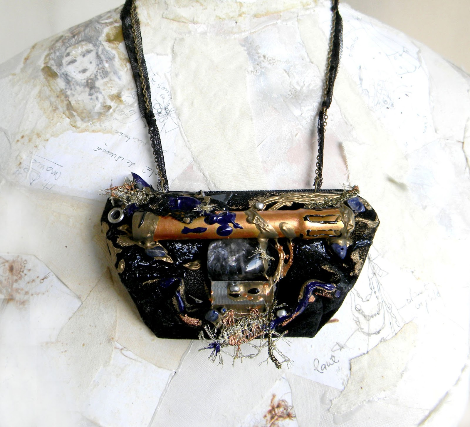 Unique Handmade Art Jewelry Necklace Original Handcrafted Fashion Jewelry