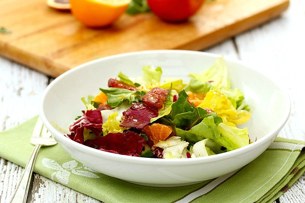 Blood Orange, Butter Lettuce, Radicchio, and Endive Salad