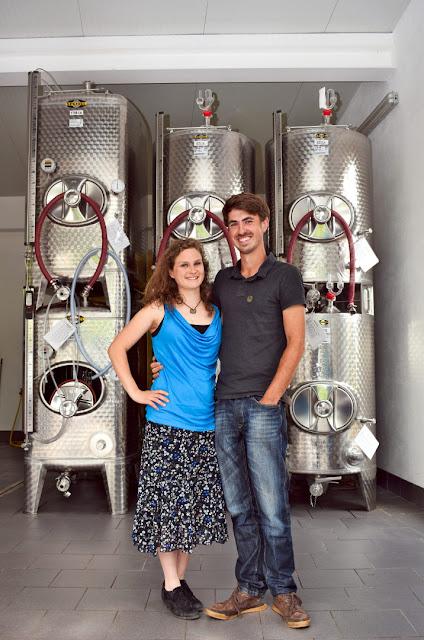 Winzer Phil Klein und Winzerin Christin Leydecker