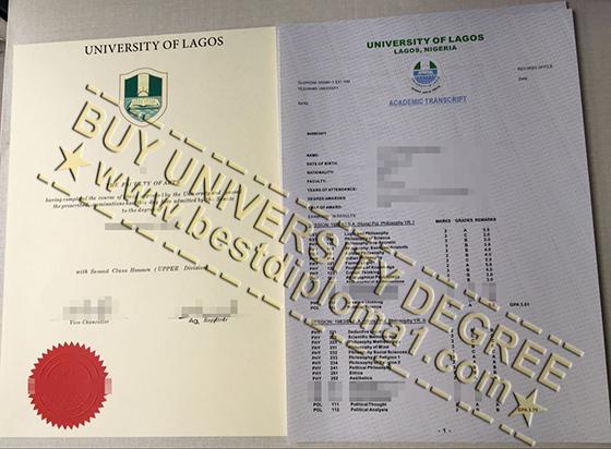 University of Lagos degree with transcript