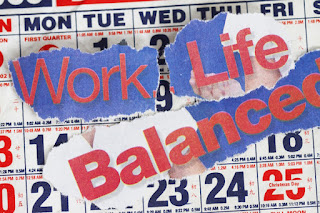 work, life, balanced, graphic