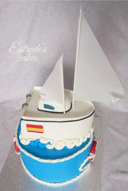 tarta barco de fondant 4
