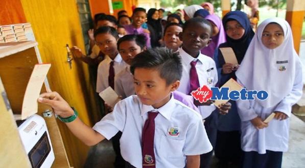 Kini Murid Sekolah Rendah Diwajibkan Punch Card