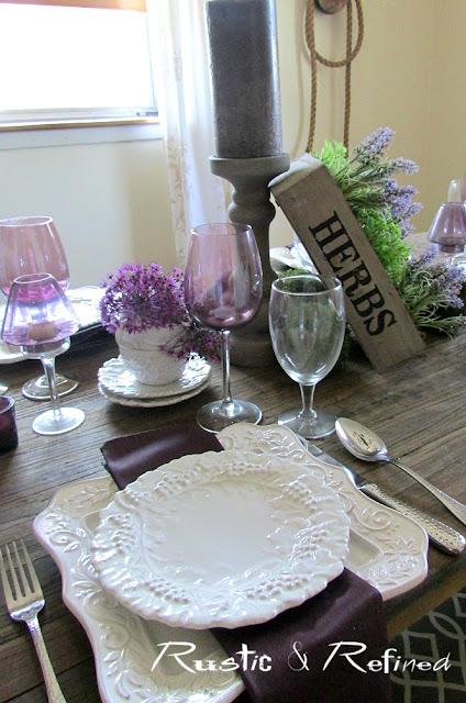 Purple & White Tablescape