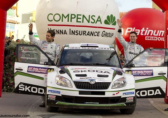Fahrerduo Esapekka und Lappi Janne Ferm startet für SKODA bei der Rallye Monte Carlo