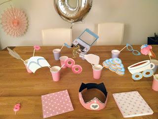 detalles fiesta infantil rosa