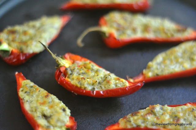 jalapeno poppers, baked not fried