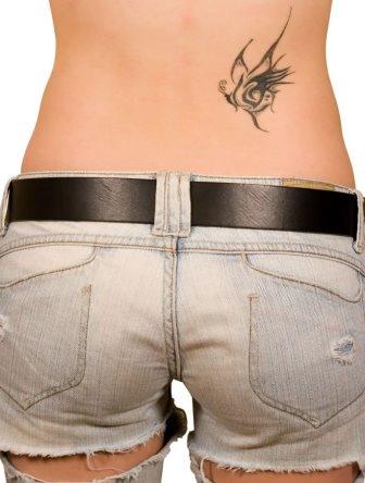 Foto Tattoo Design Butterfly Kupu Di Tubuh Wanita 26