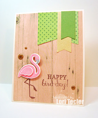 Happy Bird-day card-designed by Lori Tecler/Inking Aloud-stamps and dies from Reverse Confetti