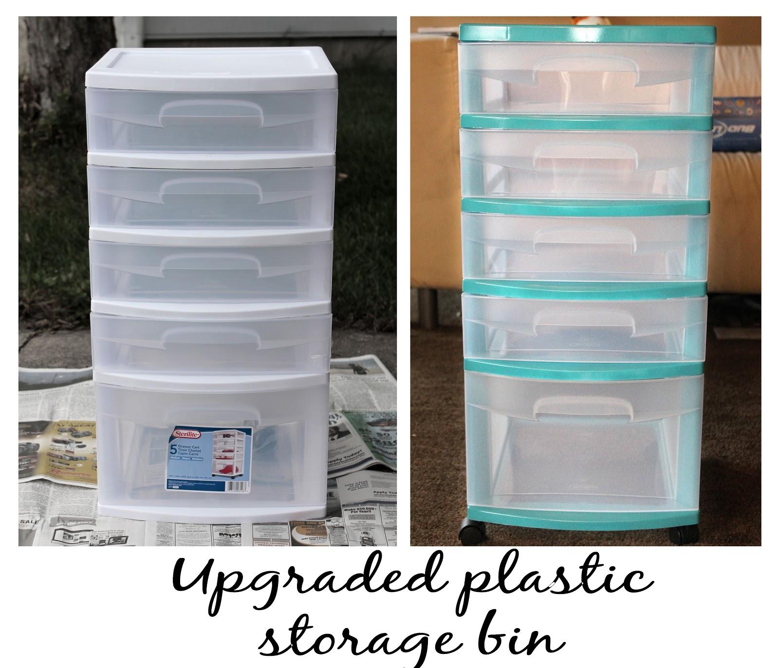 My Crafty Soul Upgrade Those Cheap Plastic Storage Bins
