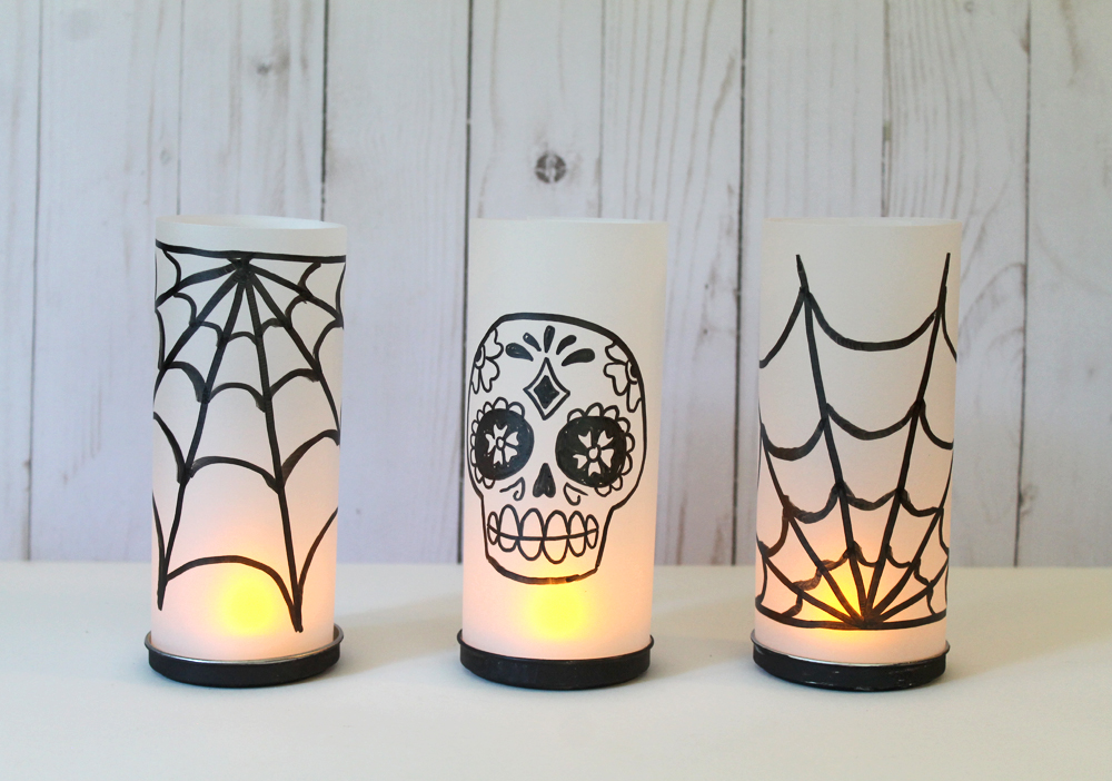 DIY Halloween Votive Holders with Pirouline Tins