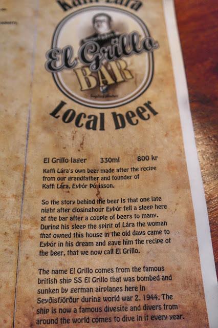 Cardápio com a história da cerveja