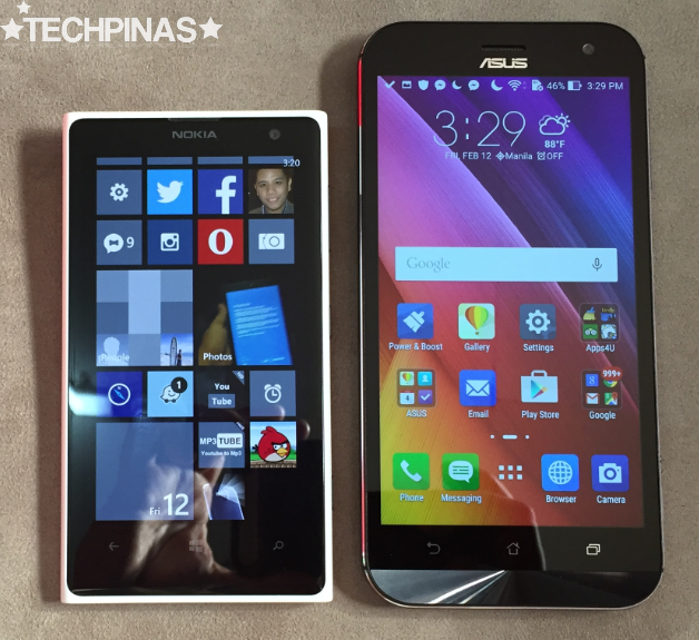Nokia Lumia 1020 vs Asus ZenFone Zoom