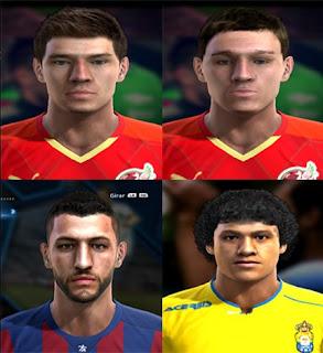 Faces: Albert Sharipov, Kamil Mullin, Junca, Mauricio Lemos, Pes 2013